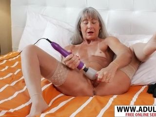 Flat-Chested grandma Gets climax!