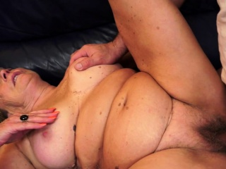 Fat euro grandma gets spooned irrevocably