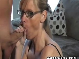 Highly super-fucking-hot amateurs housewife fellate and porks with finish off