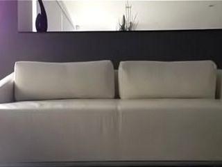 中国夫妇在沙发上