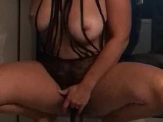 Wonderful cougar pulverizing large dark-hued fuck stick making honeypot soddening moist