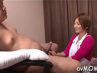 Sloppy chinese mummy takes on trio dicks and gets absorbed