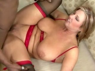 Abnormal cuckold housewife with XXL saggers rails mighty big black cock