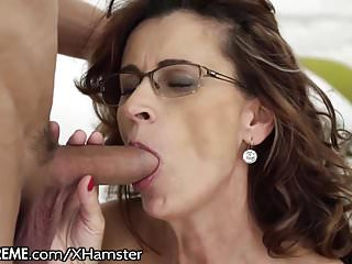 Glasses GILF Loves seductive maturing Studs bushwa