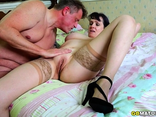 Brit good-sized titted Mature Tigger ravaging and deepthroating