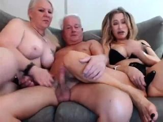 Granny and grandfather 3 way With Niece