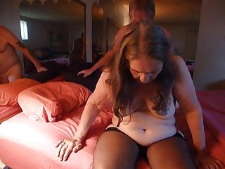 Screwing using my hubby for my b-day screw with nylons
