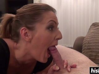 Missy Kink licks on a rock-hard masculine stick