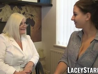 LACEYSTARR - physician GILF heals patient with lezzie ejaculation