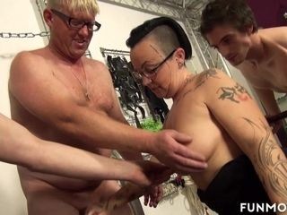 Sweetmeats Cox & Lolita & Irall overa all over German tyro Basement Groupsex - FunMovies