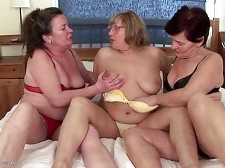 Mature fur covered moms pummel youthfull damsel and drool on her
