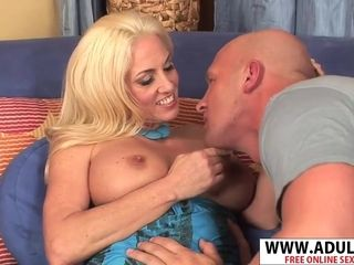 Platinum-blonde GILF Want To penetrate bulky fellow