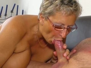 XXX Omas - Naughty German granny eats cum in hot mature sex session