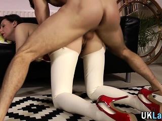 Latex stockings brit milf