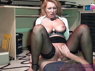 German cougar office assistant cougar drill youthfull trainee
