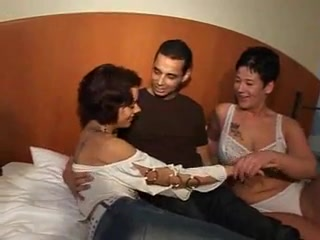Spouse And wifey love A pornography 3 way fuck-a-thon
