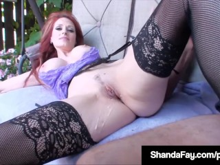 Roastoffscouringsg Cougar Shanda Fay Sucks & Fucks Camera man everywhere racetrack eject