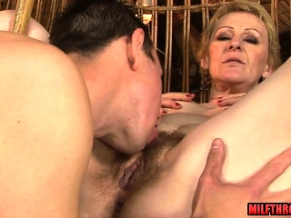 Hot adult intercourse with the addition of cumshot