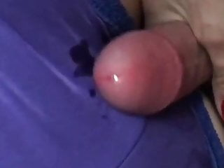 Wed gives precum handjob I cum greater than satin small-clothes