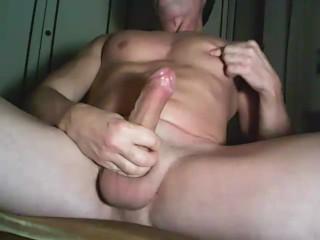 Wondrous  muscle euro fellow draining his uncircumcised fellow rod