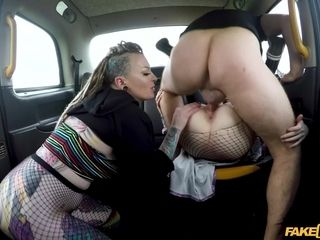 Backseat orgy with Azura Alii & Piggy Mouth