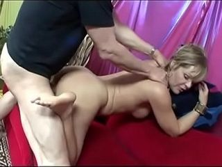Cougar gives him a sole job with her toes after being screwed