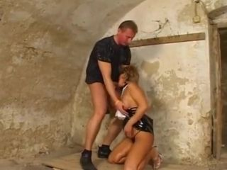 Grandmother do it anal invasion in the dungeon