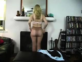 Amateur spanking his hot blonde wife