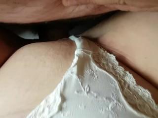 Duteous cuckold fucks bit of skirt