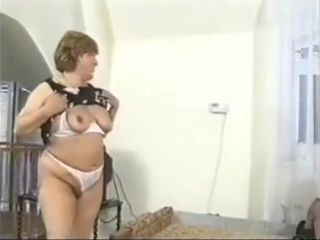 Mature plumper boinked in her brassiere and undies