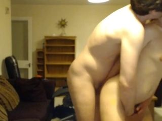 Duo getting off at home (web cam) 2