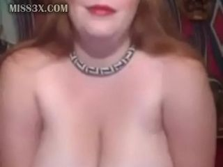 Plumper mature displaying meaty breasts and fat tummy