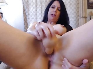 Ultra-kinky squealing housewife Joscelyn pulverizes white-hot cunt