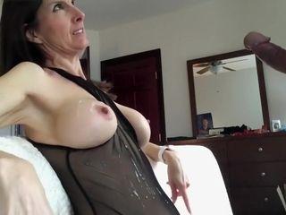 Fetching bosomy milf gets cum beyond...