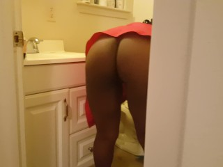 My Step mommy caught cleaning