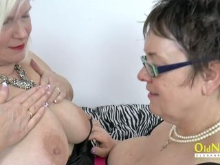 OldNannY Lacey and stunner girly-girl playthings onanism
