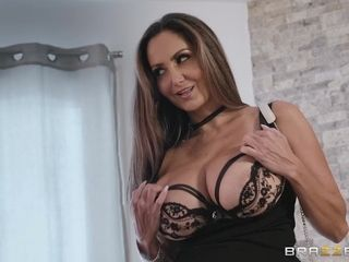 Brunette MILF Ava Addams spreads legs to get fucked on the bed