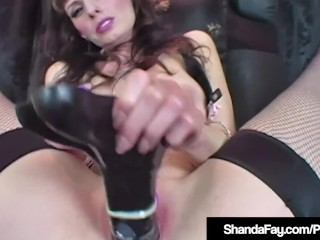 Hot saleable Housewife Shanda Fay Dildo Fucks thither Latex Lthithergerie