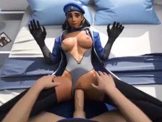 Overwatch Soldier 76 drills Ana