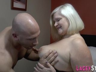 Enormous-boobed grandma likes getting laid with a enormous stiff shaft
