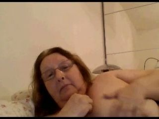 I talk to sexy granny through skype and she shows me what she got