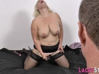 Harsh platinum-blonde hair grannie luvs rigid core mass ejaculation