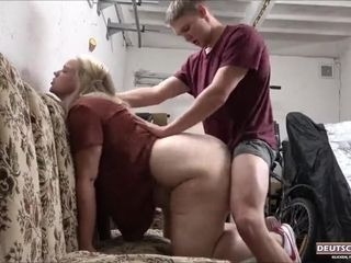 His weenie In My ass In The Garage60fps - light-haired Hair dame