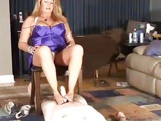 Mother footjob
