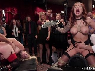 Heavy-Breasted MILF slaves ass fucking orgy pounding