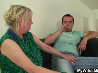 Quibbling lovemaking nearly chubby breast mother-in-law