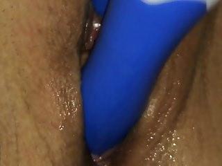 wife masturbate vibrator tarzan closeup