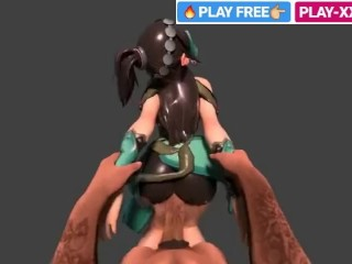 Chubby unearth added to unlighted HENTAI main SFM cane 3D PORN distraction motion picture