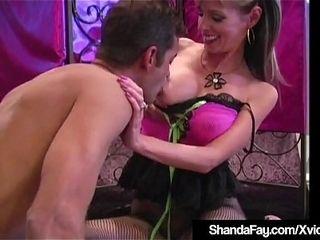 Hosed &amp_ baresoleed milf Shanda Fay sole bangs A rigid fuck-stick!