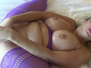 Iced Mammaries and Steamy Twat - Freaky MILF solo